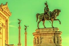 Monument Nazional a Vittorio Emanuele II Stock Photos