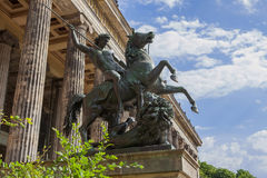 Monument near the Old Museum in Berlin Royalty Free Stock Images