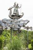 Monument near sochi commercial port Royalty Free Stock Photos