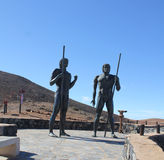 Monument near village Betancuria, Canary Island Fuerteventura Stock Photos