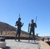 Monument near village Betancuria, Canary Island Fuerteventura Stock Photos