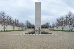 Monument at Netherlands American Cemetery and Memorial Margraten Stock Images