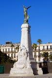 Monument Nice på Promenade des Anglais i Nice, Cote d'Azur Fotografering för Bildbyråer