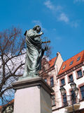 Monument of Nicolaus Copernicis in Torun, Poland Stock Images