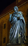 Monument of Nicolaus Copernicus. Night view of monument of Nicolaus Copernicus Royalty Free Stock Images