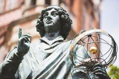 Monument of Nicolaus Copernicus. Torun Monument of Nicolaus Copernicus, who was astronomer, born in Poland Stock Photo