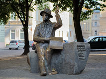 Monument of Nikifor Epifaniusz Drowniak in Lviv Royalty Free Stock Image