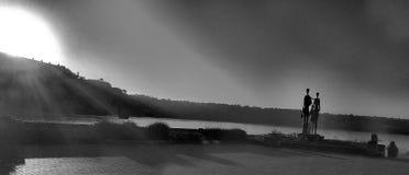 Monument noir et blanc photo libre de droits