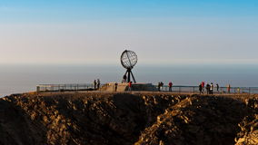 Monument at the North Cape Stock Photos
