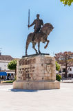 Monument of Nuno Alvares Pereira. In front of Batalha Monastery Stock Images
