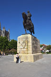Monument of Nuno Alvares Pereira one of Portugal most important. BATALHA PORTUGAL - JUNE 4, 2017: Equestrian statue of Dom Nuno Alvares Pereira at the Monastery Royalty Free Stock Photo