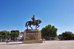 Monument of Nuno Alvares Pereira one of Portugal most important. BATALHA PORTUGAL - JUNE 4, 2017: Equestrian statue of Dom Nuno Alvares Pereira at the Monastery Stock Image