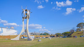 Monument O Passageiro in Londrina city stock image