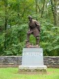 Monument och staty av Gen Patrick Cleburne Arkivbild