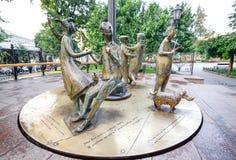 Monument ` Odessa Time-` Ukraine Lizenzfreies Stockfoto