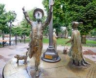 Monument ` Odessa Time-` Ukraine Stockbilder