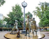 Monument ` Odessa Time-` Ukraine Stockbild