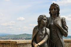 Free Monument Of Ilona Zrinyi And Her Son Ferenc Rakoczy In Mukachevo Castle Royalty Free Stock Image - 86434376