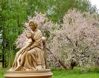 Free Monument Of Maria Haniball And Her Grandson, - Young Alexander Pushki Royalty Free Stock Images - 107032389