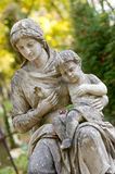 Monument Of The Woman With The Child On A Cemetery Stock Photo