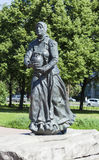 Monument Ohtinke petersburg saint Royaltyfri Foto