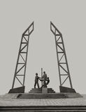 Monument oilmen. Royalty Free Stock Photography