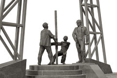 Monument oilmen. Royalty Free Stock Photos