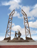 Monument oilmen. Royalty Free Stock Photo