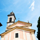 Monument old architecture in italy europe milan religion       a Royalty Free Stock Image