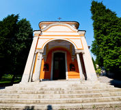 Monument old architecture in italy europe milan religion       a Royalty Free Stock Images