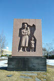 Monument on old military cemetery in Lappeenranta. Royalty Free Stock Photography