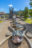 Monument of the old miners Queenstown Tasmania Royalty Free Stock Photo