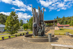 Monument of the old miners Queenstown Tasmania Stock Photography