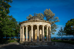 Monument in old town, Corfu island, Greece Stock Photography