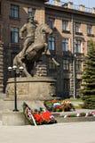 Monument om Zhukov te rangschikken royalty-vrije stock afbeelding