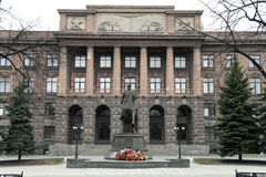 Monument om Zhukov in Yekaterinburg op te rangschikken Stock Fotografie