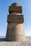 The Monument in Omaha Beach, Normandy, France Royalty Free Stock Photos