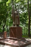 Monument op de herdenkingssteeg - de begrafenis van militairen doodde tijdens de bevrijding van Vitebsk royalty-vrije stock foto's