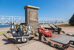 Monument op de plaats van de amfibische aanval van de Baltische vloot royalty-vrije stock afbeelding