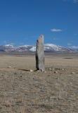 Monument op het graf van oude Turkic royalty-vrije stock afbeelding