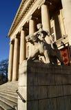 Monument before opera house Stock Photo