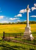 Monument på Antietam den nationella slagfältet, Maryland Arkivbild