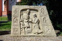 Monument på gatan royaltyfri fotografi