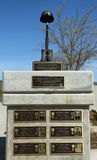 Monument på heder av borttappade stupade soldater deras liv i Irak och Afghanistan i veteran Memorial Park, stad av Napa Arkivbild