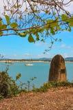 Monument på landning för kock` s, Cooktown, Queensland Arkivbilder
