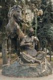 Monument på självständighetfyrkanten i Kiev arkivfoto