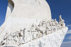 Monument Padrao dos Descobrimentos in Lissabon Royalty Free Stock Images