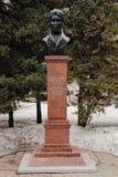 Monument Panchulidzeva Alexey Davidovich, der Gründer des Saratow-Stadtparks Die Stadt von Saratow, Russland Stockbild