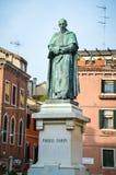 Monument Paolo Sarpi Stockbild