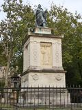 The monument in Paris cementary stock image